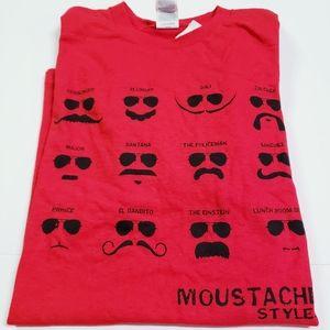 10/$35 Delta Pro Weight Mustache Novelty T-Shirt